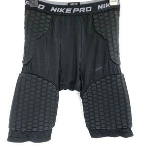 NIKE PRO Black Compression Padded Shorts ~sz M